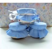 """Баночки-подарочки для гостей на Крещение мальчика """"соска"""""""