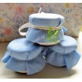 """Баночки-подарочки для гостей на Крещение мальчика """"ангел"""""""
