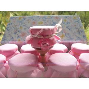 """Баночки-подарочки для гостей на Крещение девочки """"соска"""""""