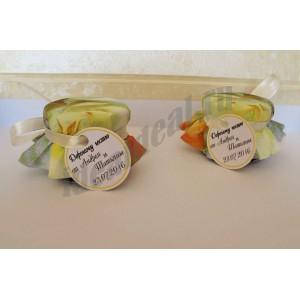 """Подарки для гостей (мини баночки варенья/меда) """"лимонная роза"""""""
