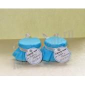 """Подарки для гостей (мини баночки варенья/меда)  """"голубая волна"""""""