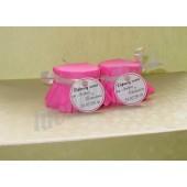 """Подарки для гостей (мини баночки варенья/меда) """"ярко-розовый"""""""