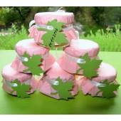 """Подарки для гостей (мини баночки варенья/меда) """"кленовый лист"""""""