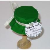 """Подарки для гостей (мини баночки варенья/меда) """"зелёный"""""""