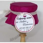 """Подарки для гостей (мини баночки варенья/меда) """"лиловый"""""""