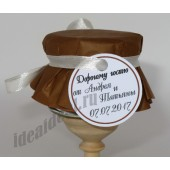 """Подарки для гостей (мини баночки варенья/меда) """"молочный шоколад"""""""