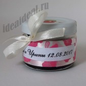 """Подарки для гостей (мини баночки варенья) """"розовый лепесток"""""""