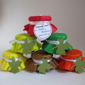 """Подарки для гостей (мини баночки варенья/меда) """"Яркая осень"""""""