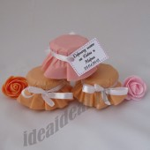 """Подарки для гостей (мини баночки варенья/меда) """"нежно-розовый"""""""