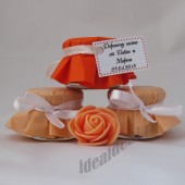 """Подарки для гостей (мини баночки варенья/меда) """"оранжевый"""""""