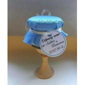 """Подарки для гостей (мини баночки варенья/меда) """"голубое небо"""""""