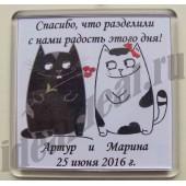 """Магнит с благодарностью """"котики"""""""