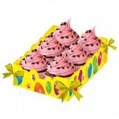 """Подставка для сладостей """"С днем рождения"""""""