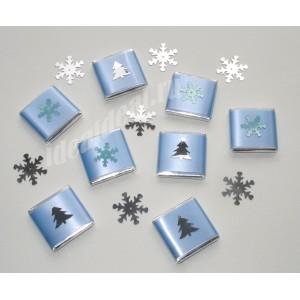 """Шоколадки с Новогодними предсказаниями/пожеланиями внутри """"голубой"""""""