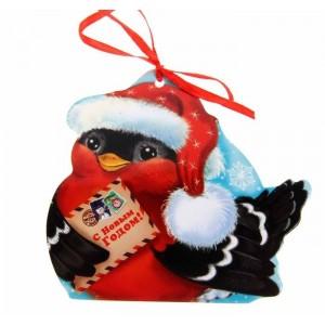 """Набор шоколадных пожеланий """"Снегирь""""  (10 шоколадок с Вашими пожеланиями) на Новый Год"""