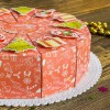 """Торт из бумаги - Бонбоньерки кусочки торта """"Новогодний"""" красный"""