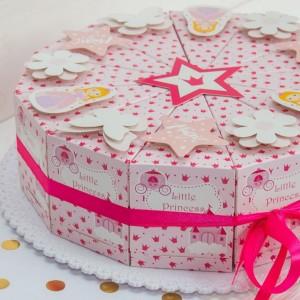 """Торт из бумаги - Бонбоньерки кусочки торта  """"Little Princess"""""""