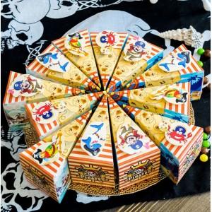"""Торт из бумаги - Бонбоньерки кусочки торта  """"Пиратский"""""""