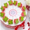 """Торт из бумаги - Бонбоньерки кусочки торта """"Клубника со сливками"""""""