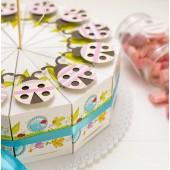 """Торт из бумаги - Бонбоньерки кусочки торта """"Летний"""""""