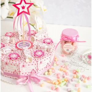 """Торт из бумаги - Бонбоньерки кусочки торта """"Принцесса"""""""