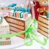 """Торт из бумаги - Бонбоньерки кусочки торта """"День Рождения"""""""
