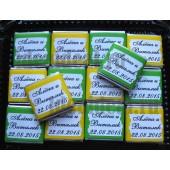 """Шоколадки mini с предсказаниями-пожеланиями """"Лимон и Лайм"""""""