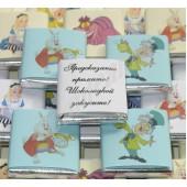 "Шоколадки с посланиями  от героев сказки ""Алиса в стране чудес """