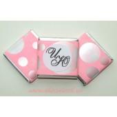 """Шоколадки mini с предсказаниями-пожеланиями """"Бабблгам розовый"""""""