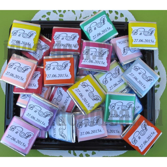"""Шоколадки mini с предсказаниями-пожеланиями """"color_mix"""""""