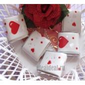 """Шоколадки mini с предсказаниями-пожеланиями """"Сердце"""""""