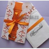 """Приглашение """"Оранжевое кружево"""" №2"""