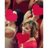 Сердечки на палочках крупные (разные цвета) цена за 1 шт.
